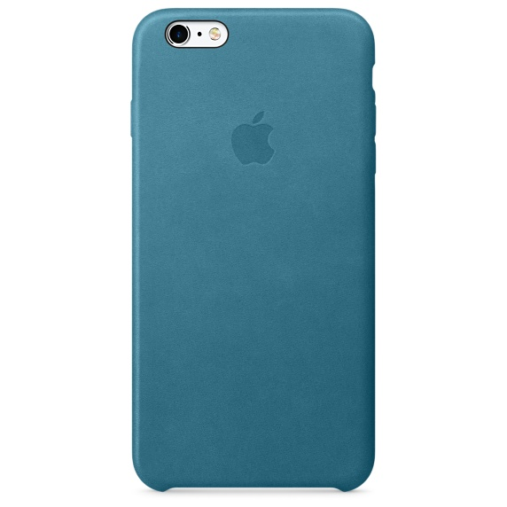 iPhone 6s Plus Leather Case - Marine Blue
