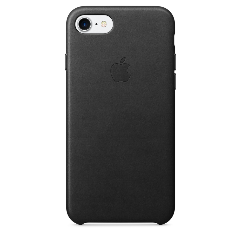 iPhone 7 Leather Case - Black
