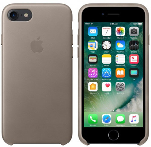 iPhone 7 Leather Case - Taupe