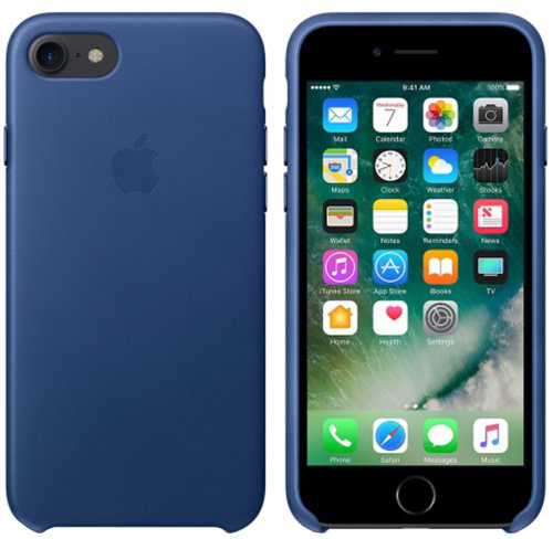 iPhone 7 Leather Case - Sapphire