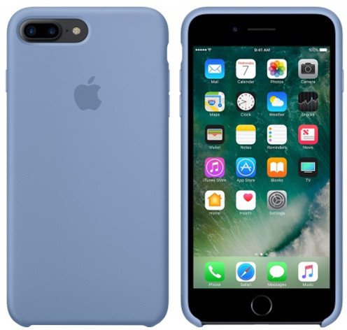 iPhone 7 Plus Silicone Case - Azure