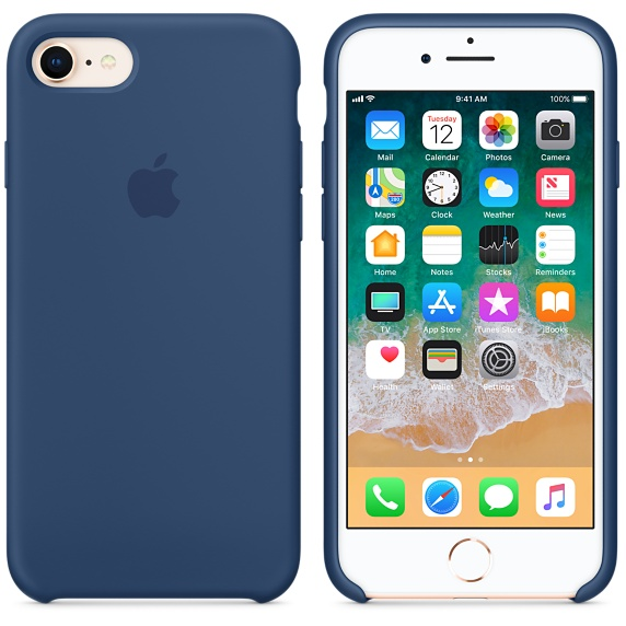 iPhone 8 / 7 Silicone Case - Blue Cobalt