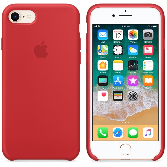 iPhone 8 / 7 Silicone Case - (PRODUCT)RED