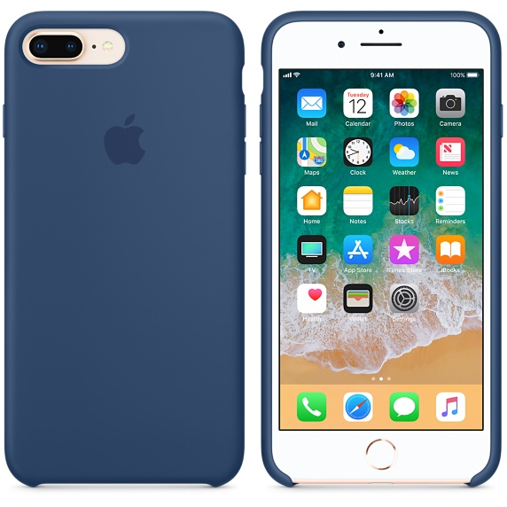 iPhone 8 Plus / 7 Plus Silicone Case - Blue Cobalt