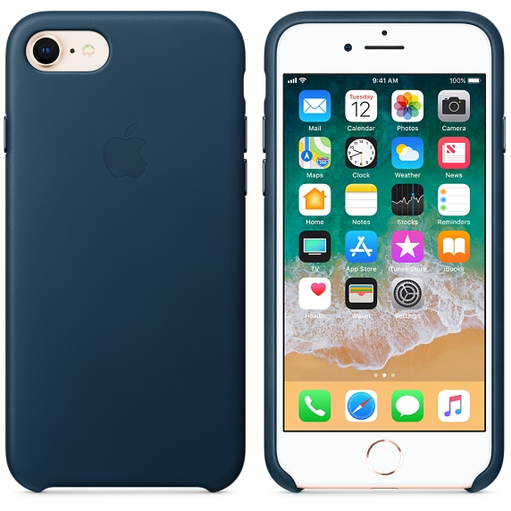 iPhone 8 / 7 Leather Case - Cosmos Blue