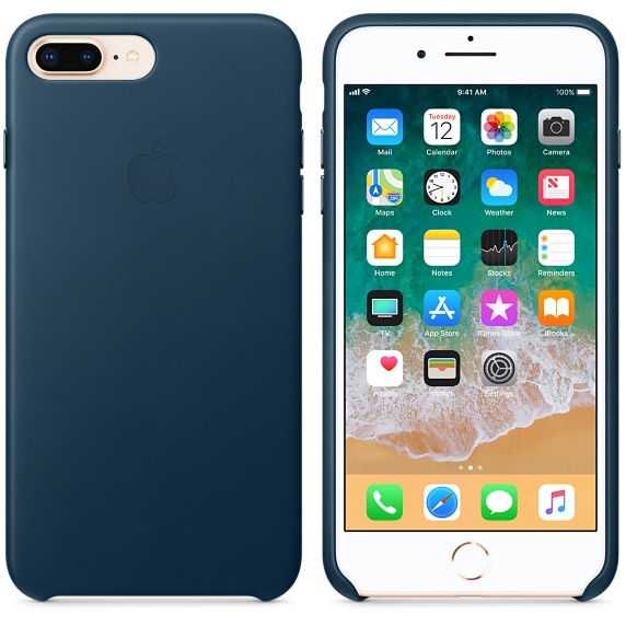 iPhone 8 Plus / 7 Plus Leather Case - Cosmos Blue