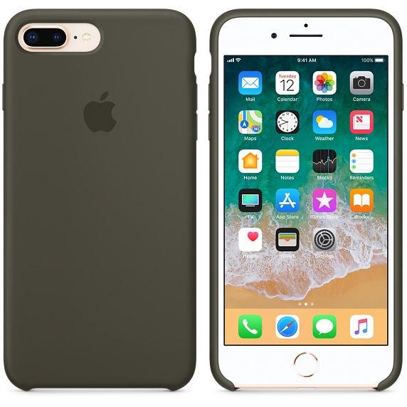 iPhone 8 Plus / 7 Plus Silicone Case - Dark Olive