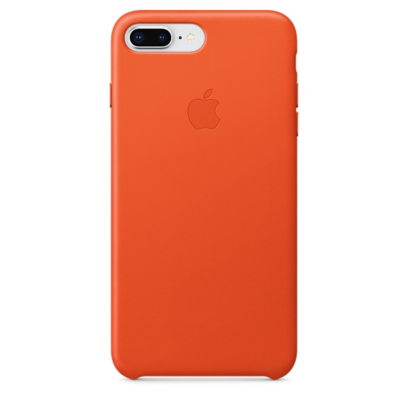 iPhone 8 / 7 Plus Leather Case - Bright Orange