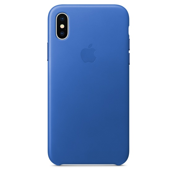 iPhone X Leather Case - Electric Blue