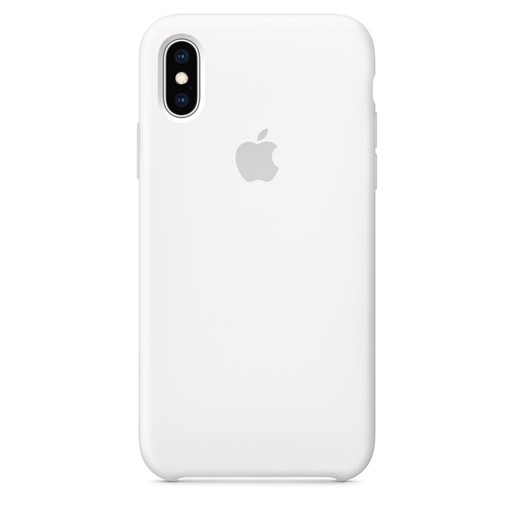 iPhone XS Max Silicone Case - White / SK