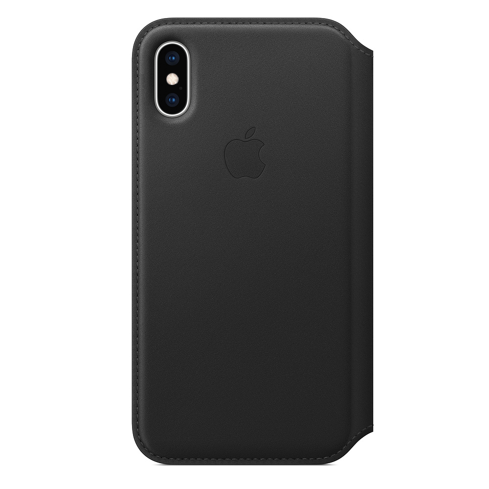 iPhone XS Leather Folio - Black