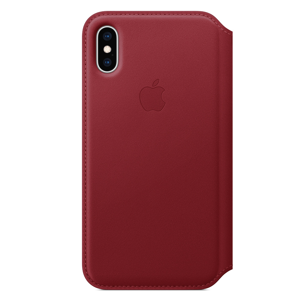 iPhone XS Leather Folio - (PRODUCT)RED / SK