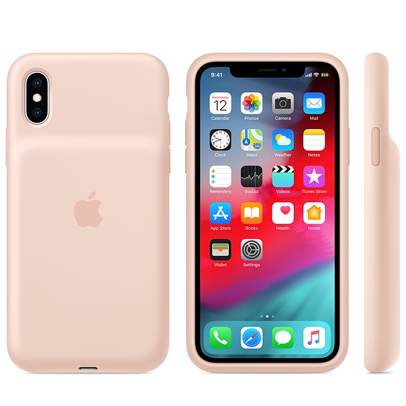 iPhone XS Max Smart Battery Case - Pink Sand