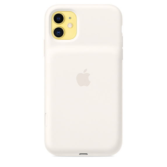 iPhone 11 Sm. Battery Case - WL Charging - White