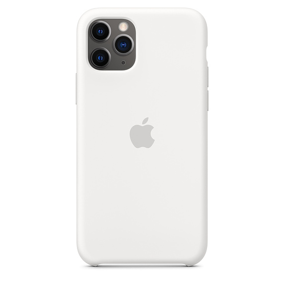 iPhone 11 Pro Max Silicone Case - White