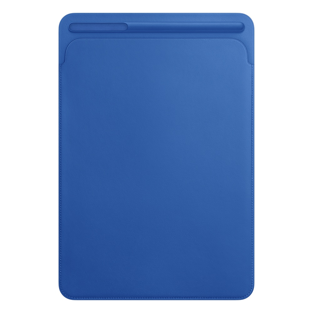 iPad Pro 10,5'' Leather Sleeve - Electric Blue