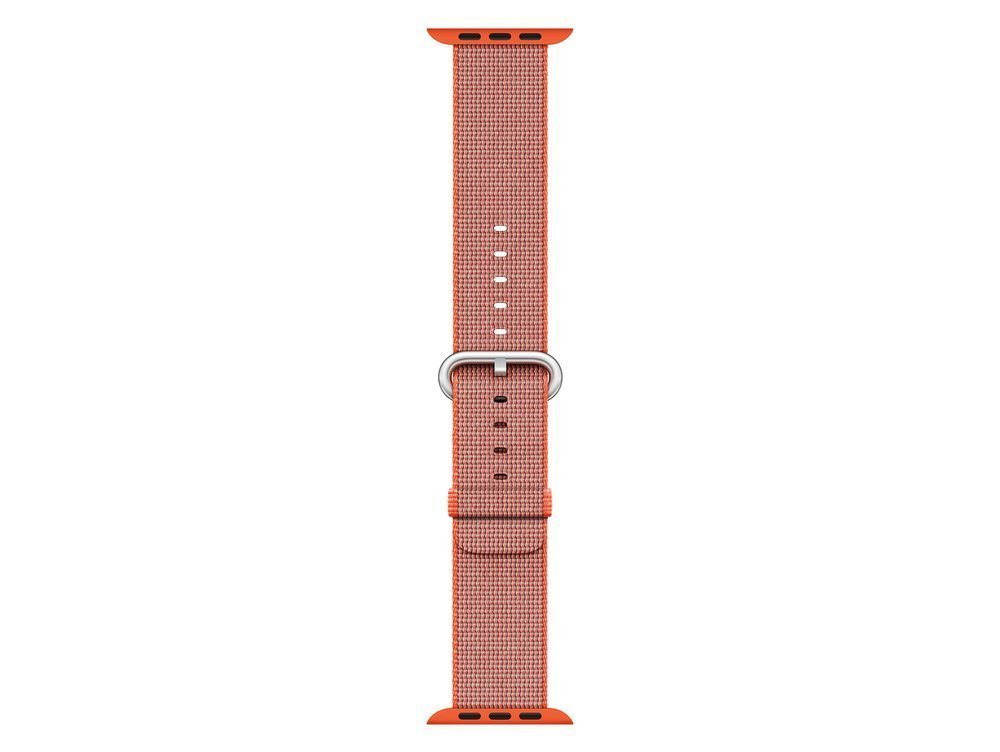 Watch Acc/38/Space Orange/Anthracite Woven Nylon