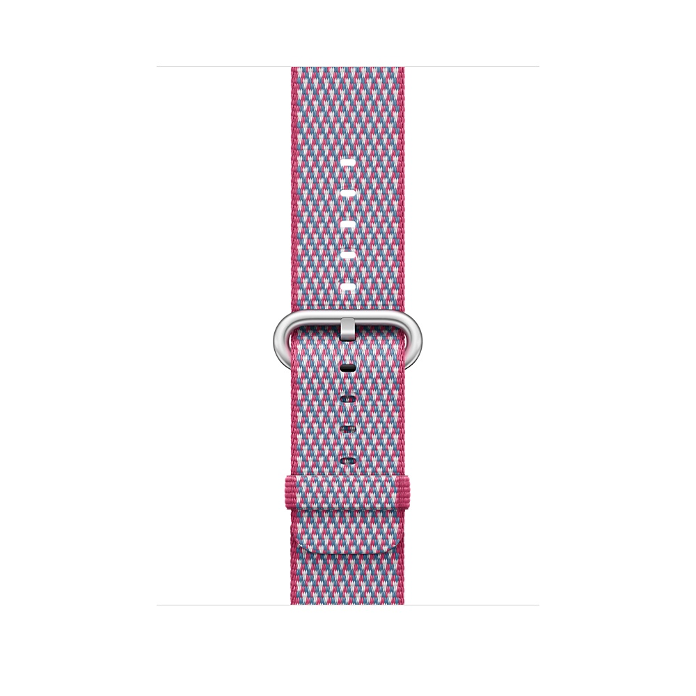 Watch Acc/38/Berry Check Woven Nylon