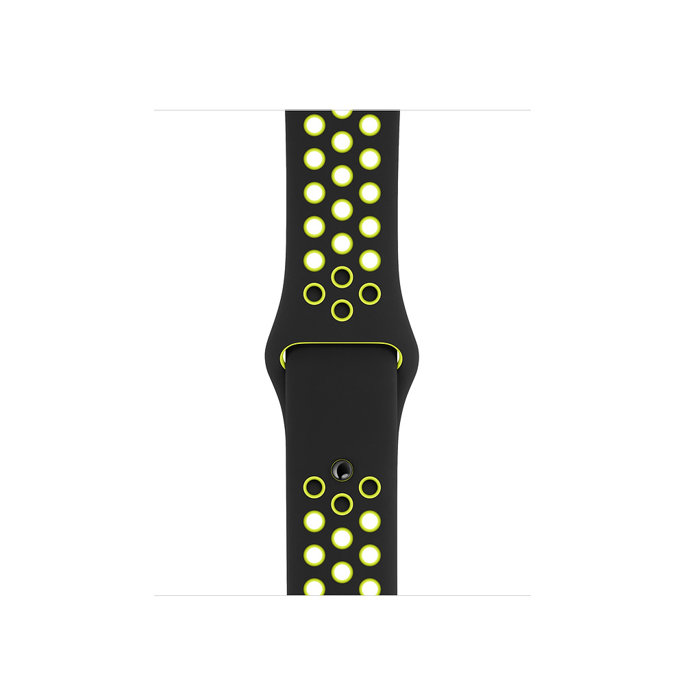 Watch Acc/44/Black/Volt Nike Sport Band