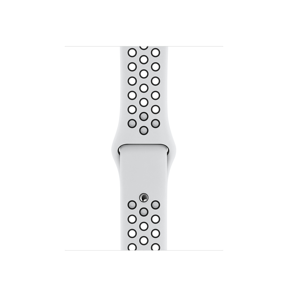 Watch Acc/44/Pure Platinum/Black Nike Sport Band
