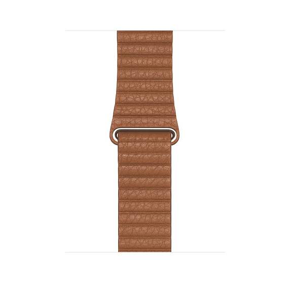 Watch Acc/44/Saddle Brown Leather Loop - Medium
