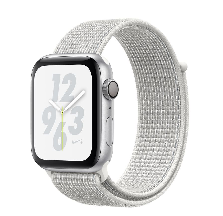 Watch Nike+, S4, 44mm, Silver/Sum White Sport Loop