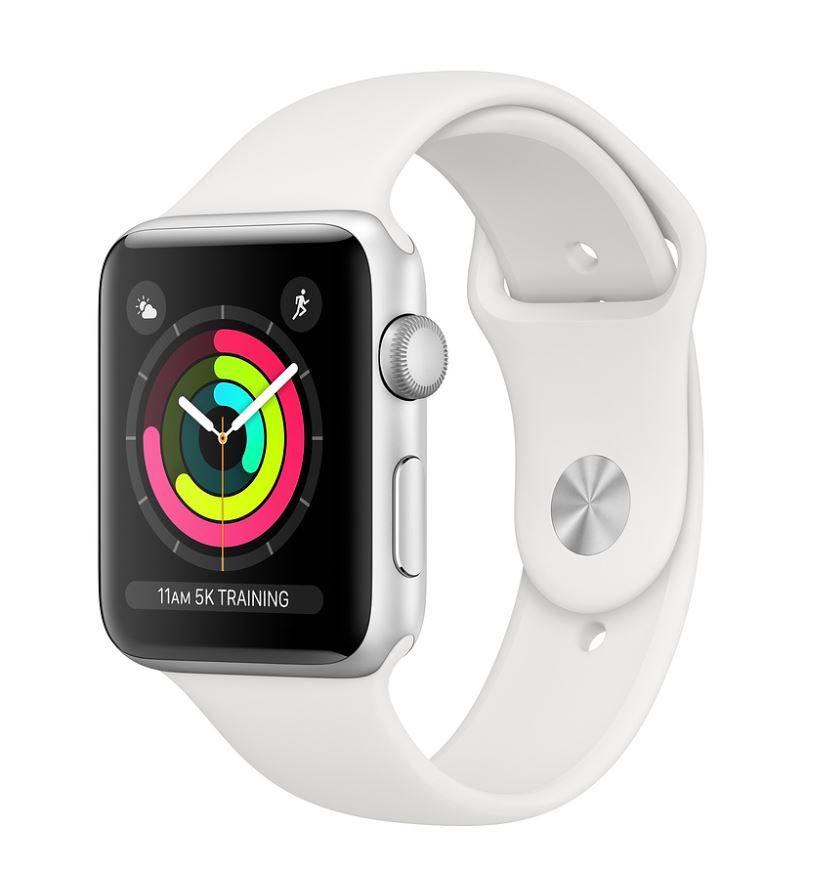 Watch S3, 42mm, Silver AC/White Sport Band