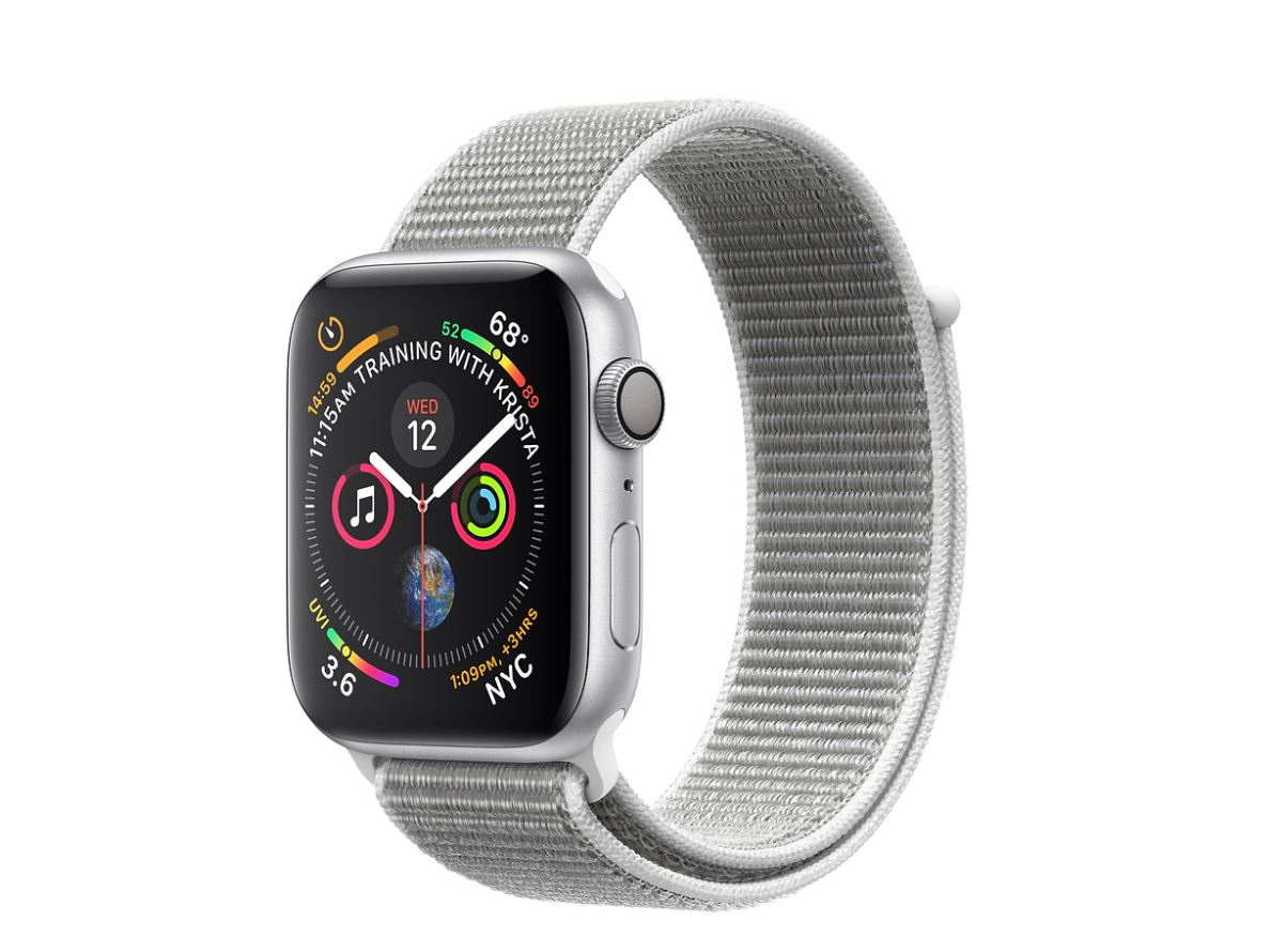 Watch S4, 44mm, Silver/Seashell Sport Loop