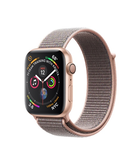 Watch S4, 44mm, Gold/Pink Sand Sport Loop