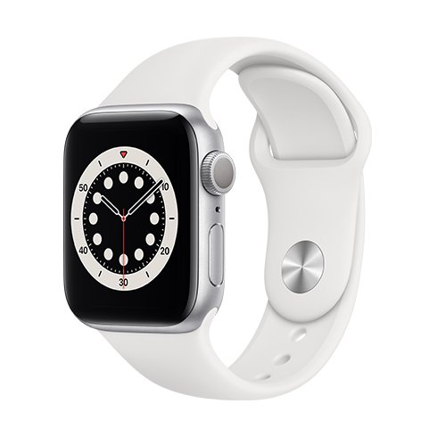 Watch S6, 44mm, Silver/White SportB
