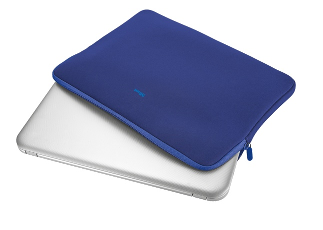 """21249 TRUST Primo Soft Sleeve for 15.6"""" laptops - blue"""