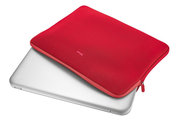 """21250 TRUST Primo Soft Sleeve for 15.6"""" laptops - red"""