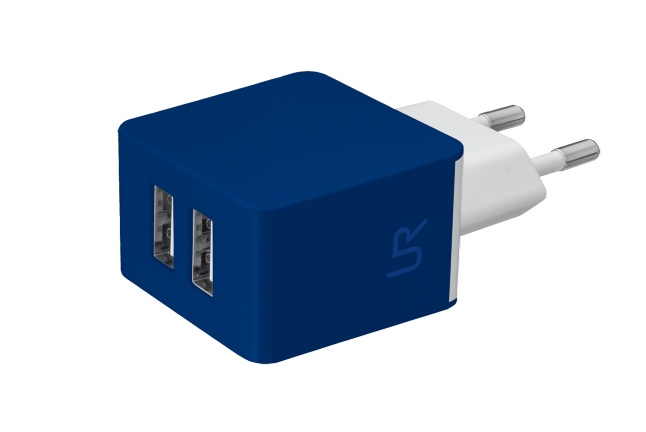 nabíječka TRUST 5W Wall Charger with 2 USB-blue