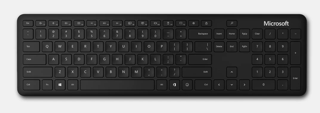 Microsoft Bluetooth Keyboard, Black, CZ&SK
