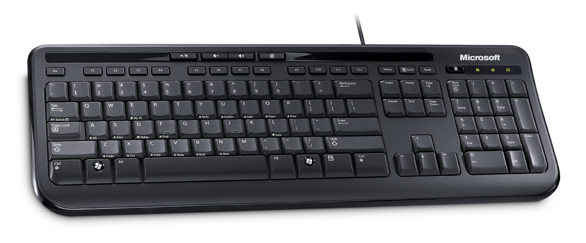 Microsoft Wired Keyboard 600 USB, UK