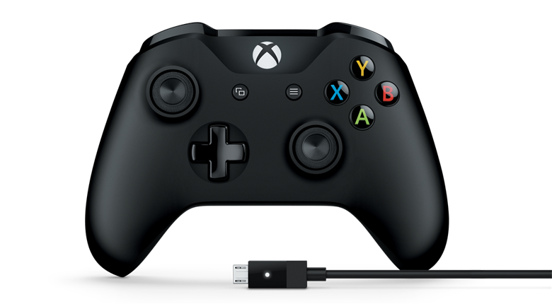 Microsoft Xbox One Gamepad + kabel pro Windows, USB