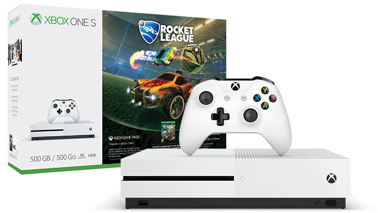 XBOX ONE S 500 GB + Rocket League + 3M Xbox Live Gold