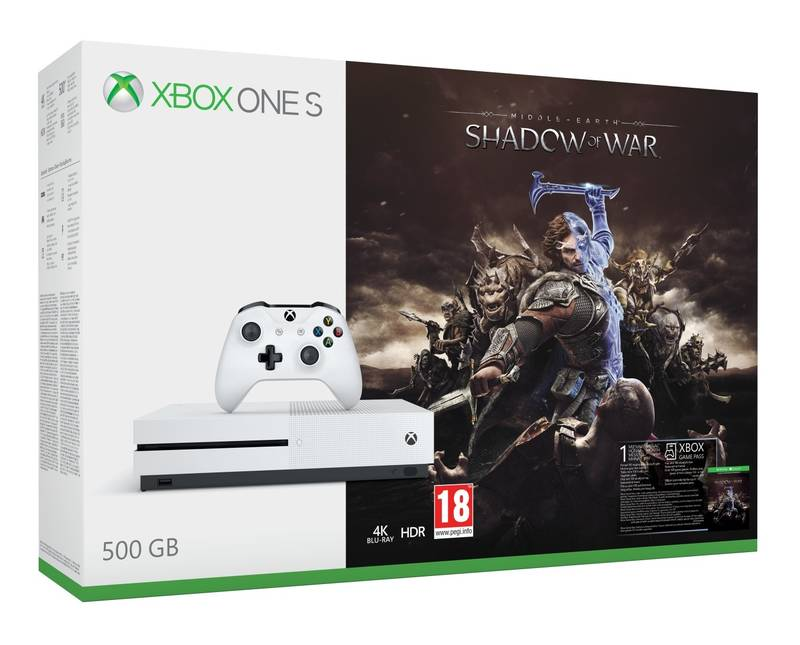 XBOX ONE S 1 TB + Middle-Earth: Shadow of War