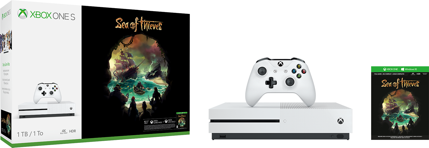 XBOX ONE S 1 TB + Sea of Thieves + 2 hry ZDARMA