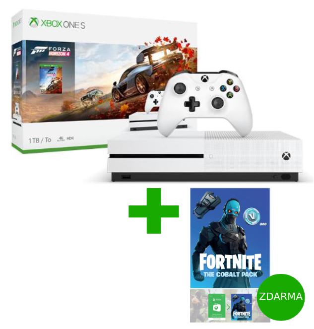 XBOX ONE S 1 TB + Forza Horizon 4 + Fortnite The Cobalt Pack