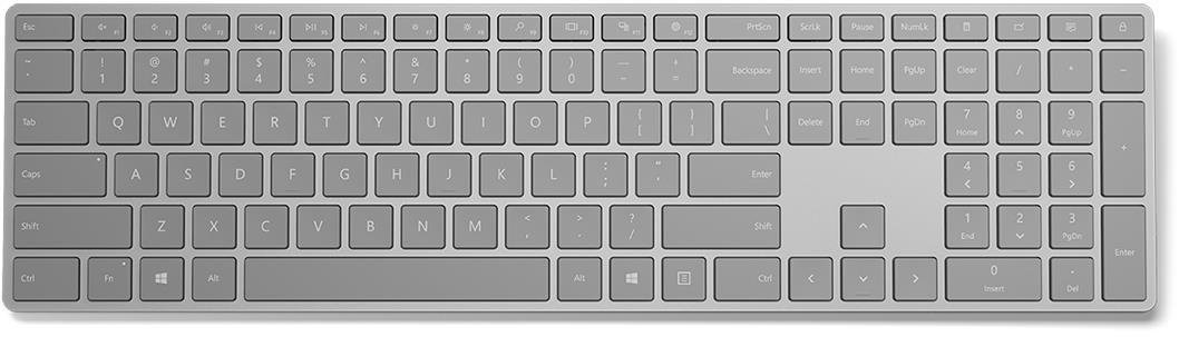 Microsoft Surface Keyboard Sling Bluetooth 4.0 (Gray), ENG