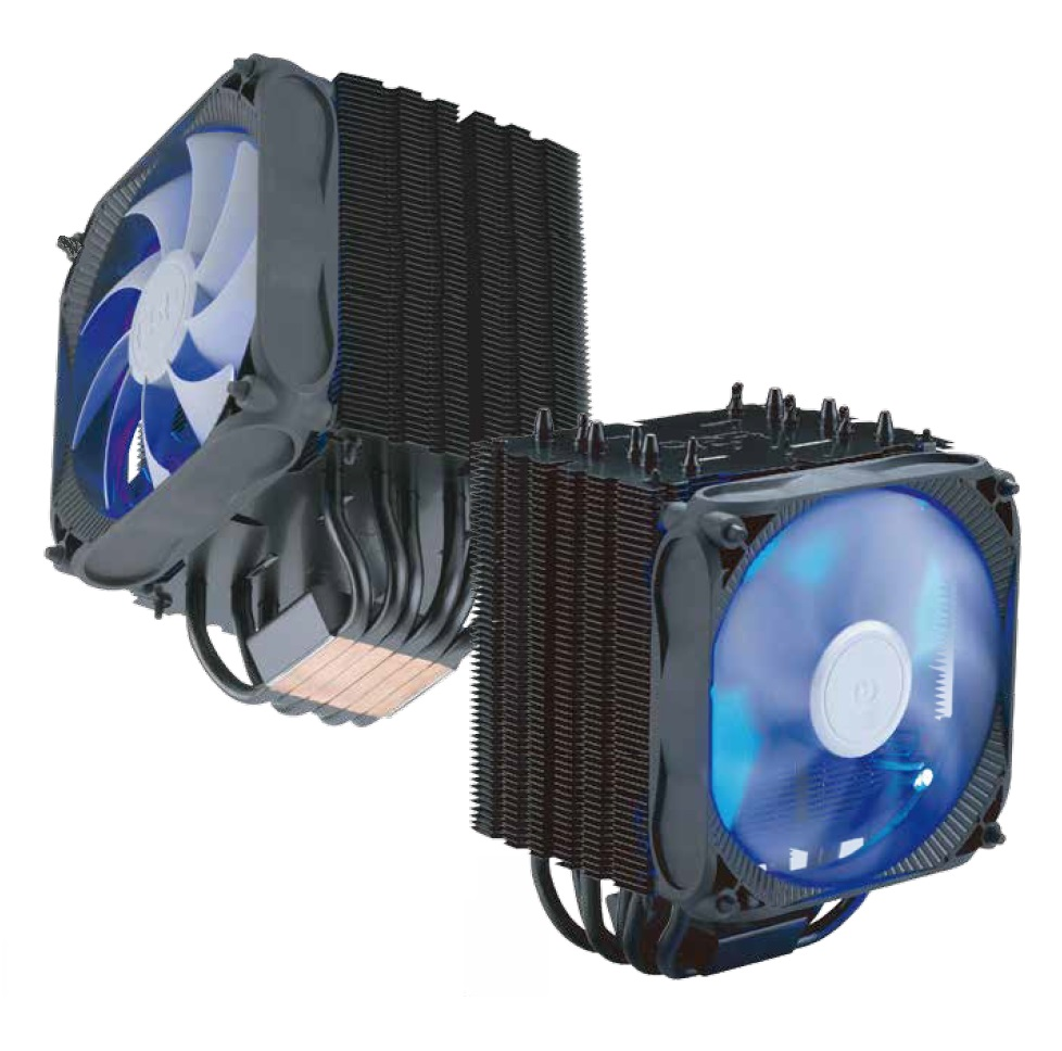 FSP/Fortron Chladič CPU Windale 6 Cooler AC601, 6 Heat-Pipe, 240W TDP, 120 mm PWM blue LED