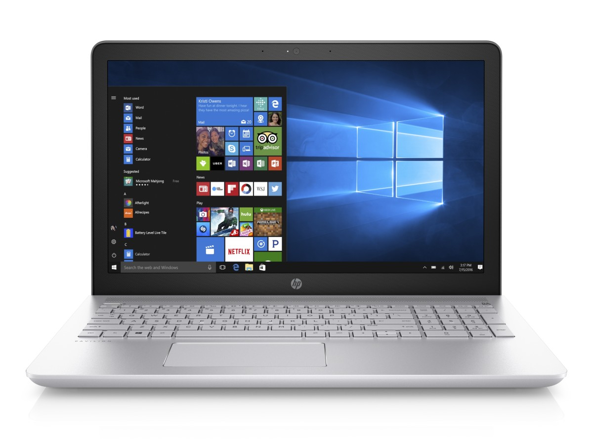 1UZ91EA#BCM HP Pavilion 15-cc004nc FHD i3-7100U/8GB/1TB+128SSD/DVD/2Rservis/W10H/Mineral silver