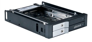 "AKASA Lokstor M21 - 2 x 2,5"" HDD rack do 3,5"""