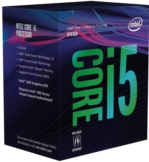 CPU INTEL Core i5-8400 BOX (2.8GHz, 9M, LGA1151)