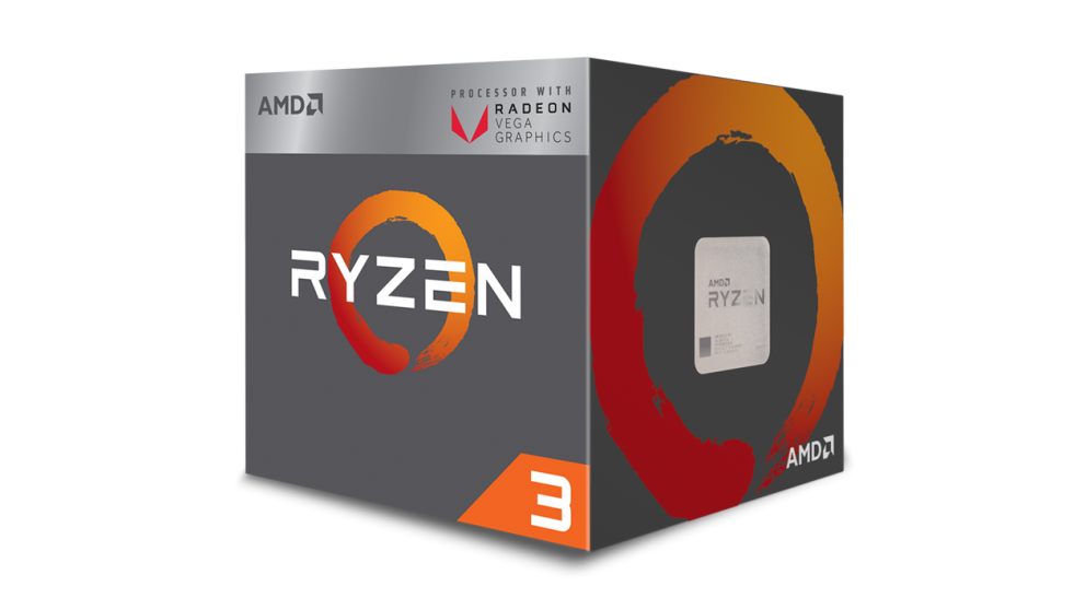 CPU AMD Ryzen 3 2200G 4core (3,7GHz) Wraith Stealth