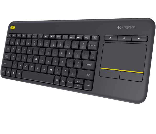 AKCE Logitech Wireless Touch Keyboard K400 plus, USB,CZ