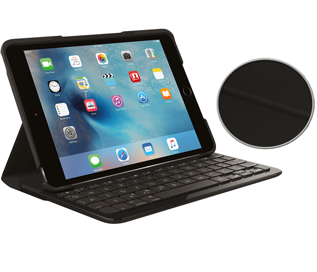 Logitech FOCUS Case with integrated Bluetooth keyboardfor iPad Mini 4 (UK Qwerty)