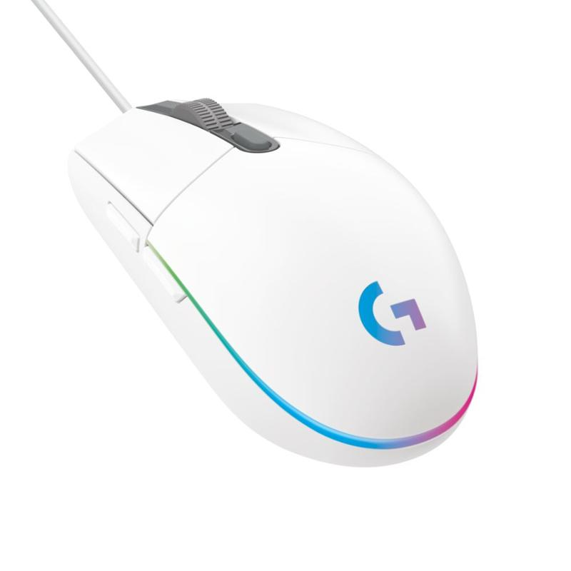 myš Logitech G203 2nd Gen LIGHTSYNC Gaming Mouse - WHITE - USB