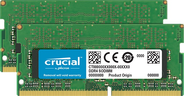 SO-DIMM 32GB DDR4 3200MHz Crucial CL22 2x16GB